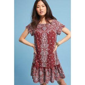 •Feather & Bone• Ynez Embroidered Tunic Dress Boho